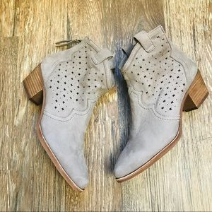 NEW Sam Edelman star cut cowgirl ankle boots